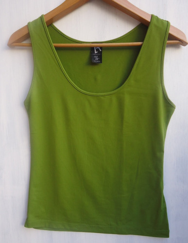 Musculosa Zara-verde Oliva-jersey Impecable! Talle M