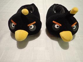 Pantufa Infantil H&m - Angry Birds - Pássaro Preto (black)