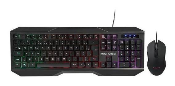 Teclado E Mouse Gamer 2400dpi Iluminado Multimídia - Tc239