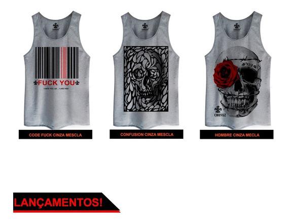 Regata Varias Estampas E Cores Diferentes Camiseta Caveira