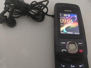 Celular Nokia 2220s - Com Fone E Bateria (funciona Ok) Usado