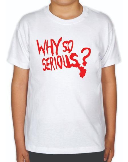 Playera Why So Serious? De Niño El Joker El Guasón The Joker