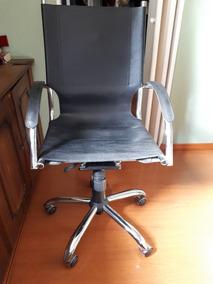 Cadeiras Para Escritório Em Couro E Excelente Acabamento