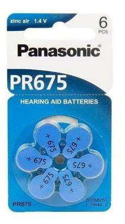 Bateria Auditiva Pr675 Panasonic - Cartela Com 6 Unidades