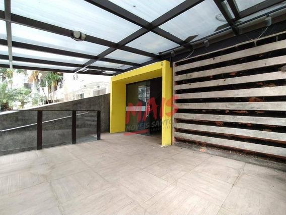 Sobrado Comercial Para Locação, Em Excelente Ponto No Gonzaga, Santos/sp - So0404