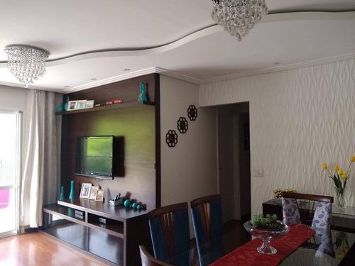 Apartamento Com 3 Dormitórios À Venda, 87 M² Por R$ 626.000,00 - Jardim Tupanci - Barueri/sp - Ap1664