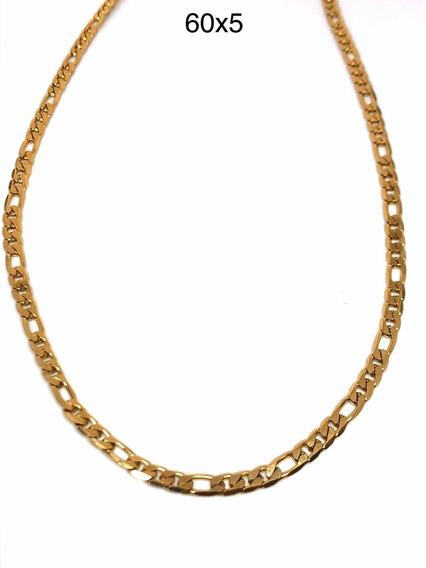 Cadena de oro 60cm largo 4mm de ancho tanques cadena de acero inoxidable dorado para señora caballero