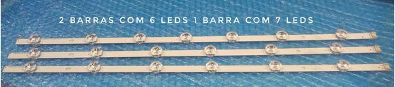 Kit 3 Barras 32ln536b 32ln546b 2 Barras 6 Led 1 Barra 7 Leds