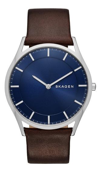 Reloj Caballero Skagen Holst Skw6237 Color Café De Piel