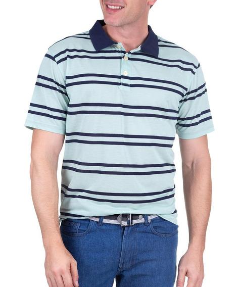 Camisa Polo Fio Azul Listrado 49847 Colombo