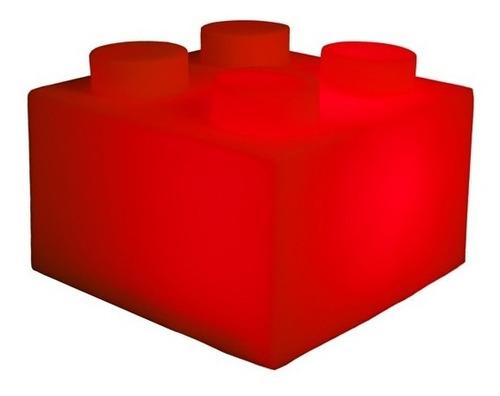 Luminária Infantil Quarto Festa Bloco De Montar Lego Abajur