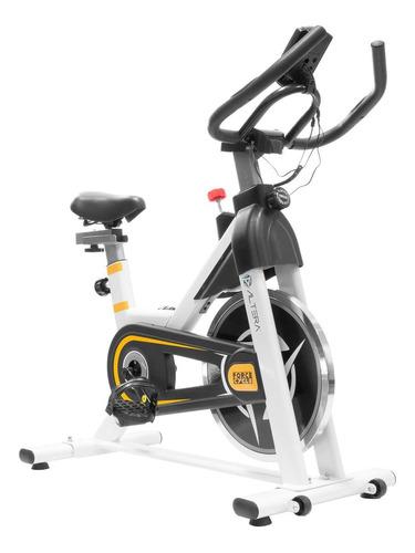 Bicicleta fija Altera Spal ALT550-8 para spinning blanca y amarilla