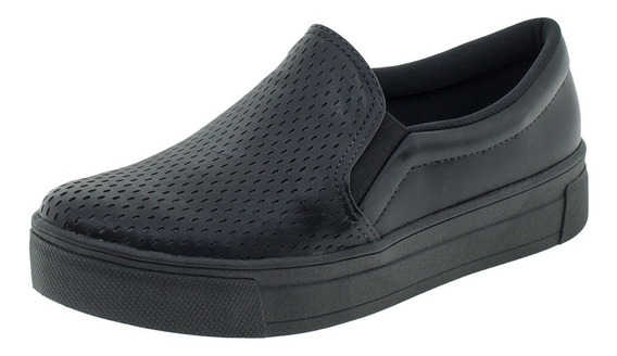 Tênis Feminino Slip On Dakota - G0481 Preto
