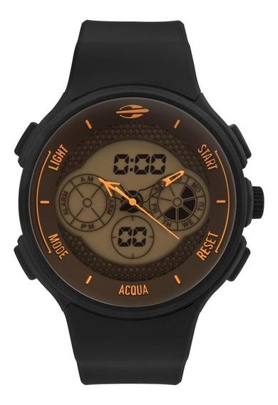 Relógio Masculino Mormaii Mo160829ae/8l 48mm Silicone Preto
