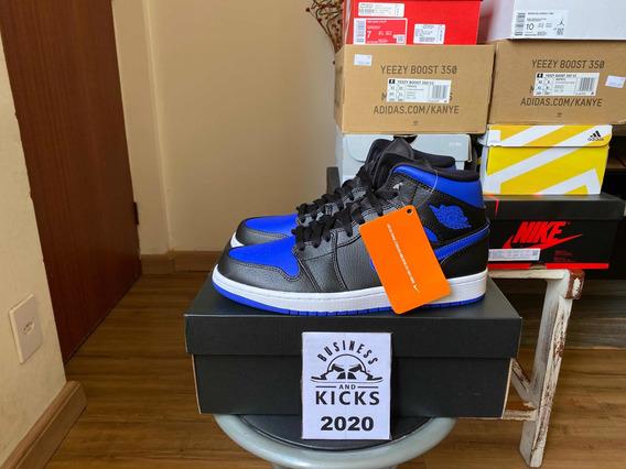 Tênis Nike Air Jordan 1 Mid Royal Blue