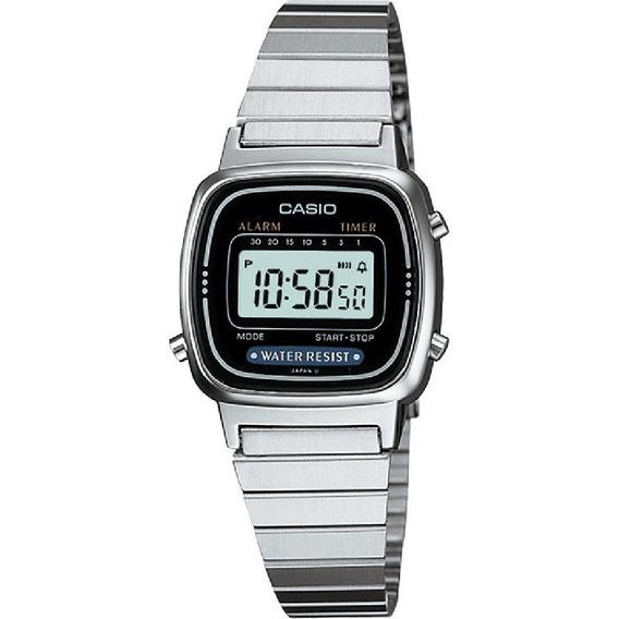 Relógio Casio La670 Preto Tamanho Mini Retro Vintage