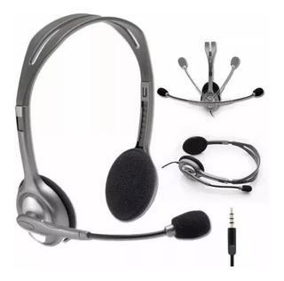 Auriculares Headset Logitech H111 Microfono Skype 3.5 Mm