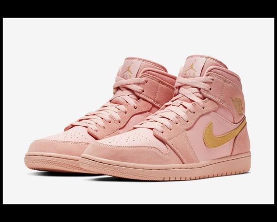 Nike Air Jordan 1 Mid Se - Coral Gold