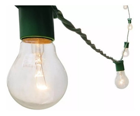 Varal De Luzes Cordão De Iluminação Gambiarra Lâmpada 50m Vd