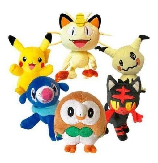 Kit Pokemon Completo Com 6 Pelucias Dtc 4848