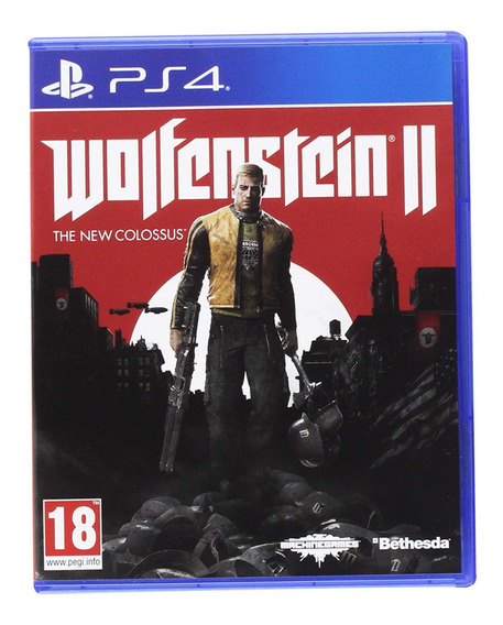 Wolfenstein 2 The New Colossus - Ps4 Jogo Mídia Física Novo
