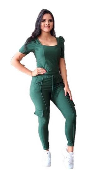Conjunto Moletom Feminino Calça + Blusa Confortável Básico