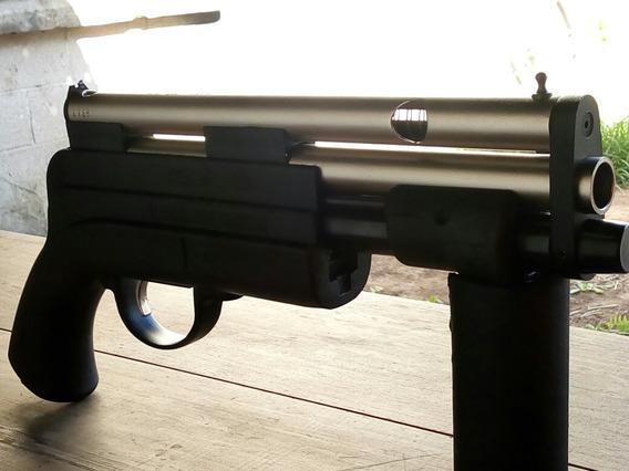 Pistolon C02 Niquel 6 Tiros.c/funda
