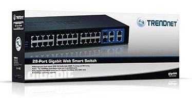 Switch 24 Rack Trendnet 4p Giga+2 Mini Gbic Teg 424ws