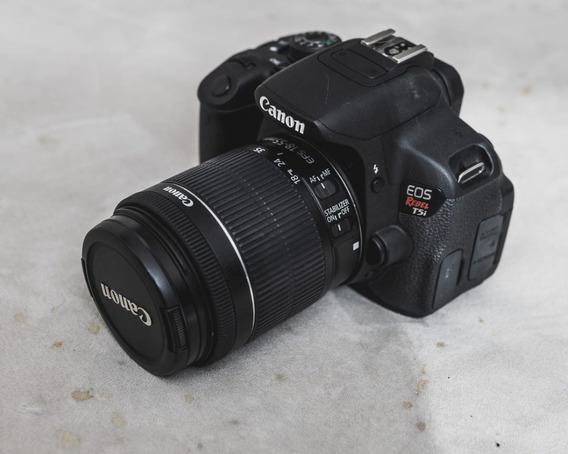 Camera Canon Eos T5i Com 2 Lentes (50 E 200mm) + Case