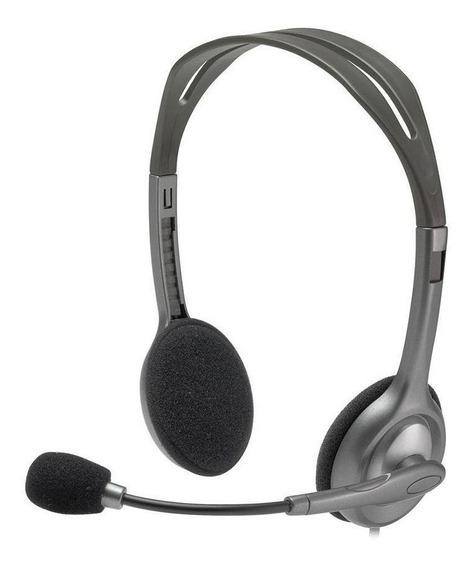 Headset Logitech H111 Stereo Com Fio Pc Pronta Entrega