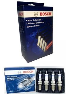 Kit Cabos E Velas Bosch Fox Gol G4 G5 Voyage 1.0 1.6 8v Flex