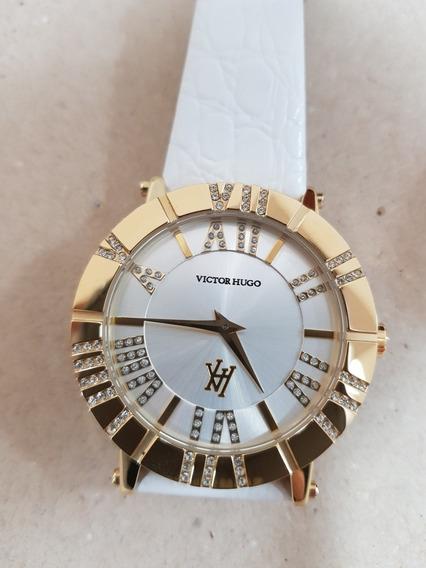 Relógio Feminino Dourado Victor Hugo Vh10048lsg/04