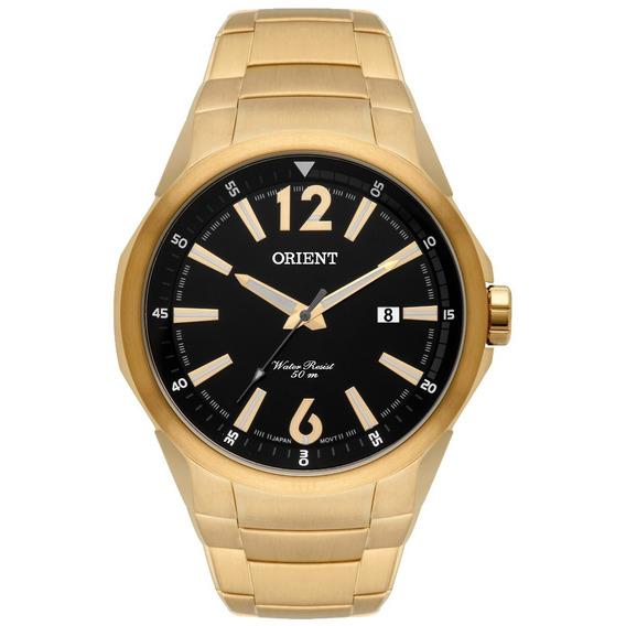 Relógio Orient Masculino Dourado Mgss1120 P2kx
