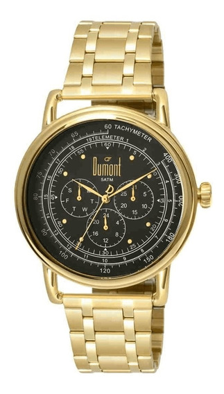 Relógio Dumont Masculino Ref: Du6p29acb/4d Clássico Multifun
