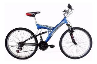 Bicicleta Doble Suspension Rodado 20 Topmega
