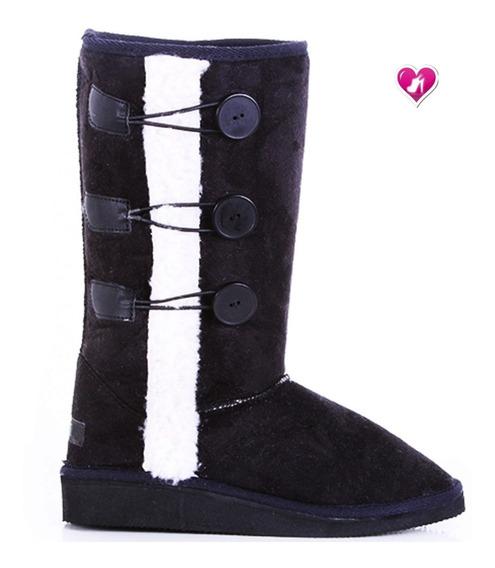 Bota Invierno Pantubotas Mod Nieves Con Piel De Shoes Bayres