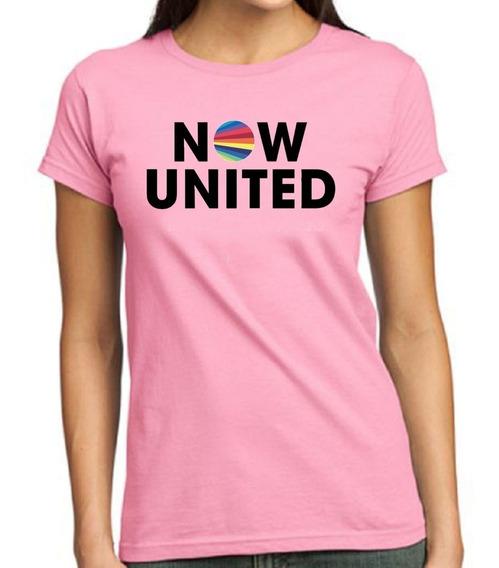 Camisa Infantil Now United Rosa Personalizada Any Sabina Noa