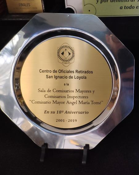 Plato Conmemorativo 23cm Con Caja Y Grabado