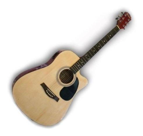 Guitarra Electroacustica Con Corte Memphis + Funda De Regalo