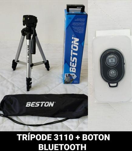 Trípode 3110 + Boton Bluetooth Con Soporte Para El Celular