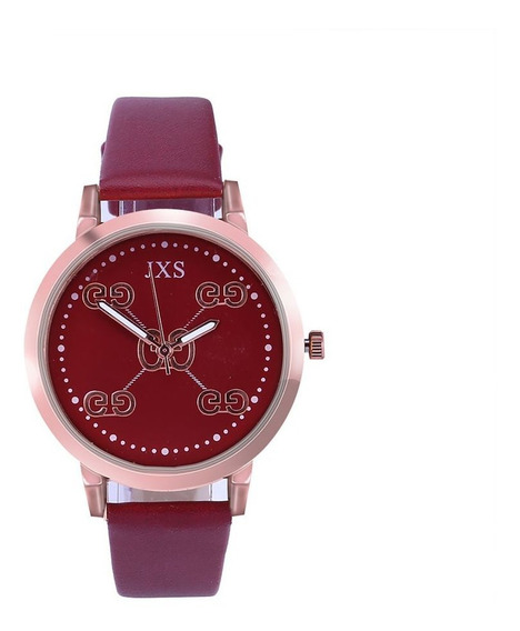 Relógio De Quartzo J29 Pulseira De Couro Pu À Prova D