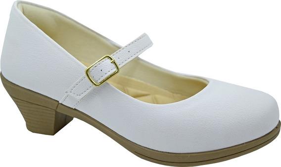 Sapatilha Infantil Feminina Salto Sapato Dourado 8050