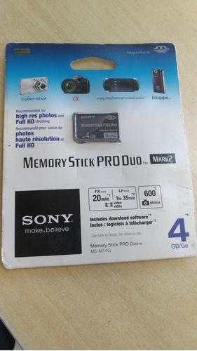 Cartão Sony Memory Styck Pro Duo  4 Gigas