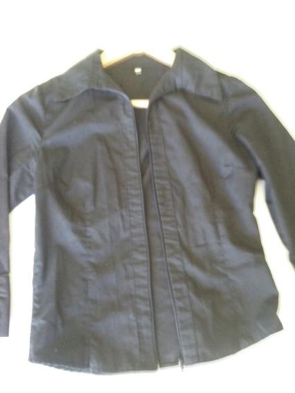 Camisa Negra Con Cierre!