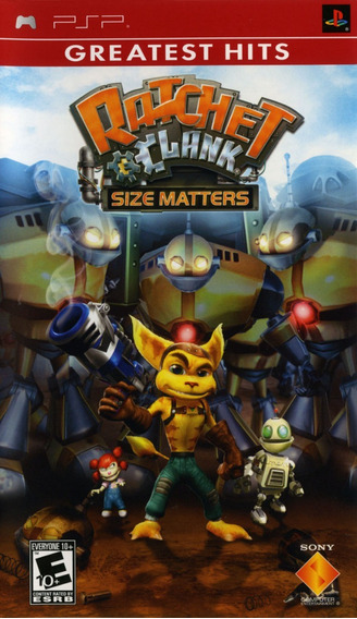 Jogo Ratchet And Clank Size Matters Playstaiton Psp Original