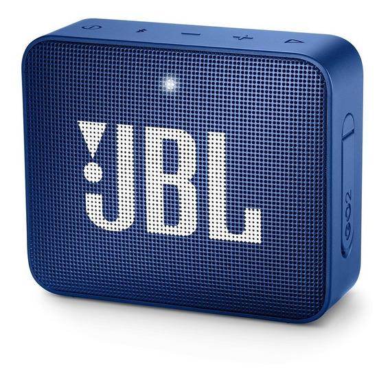 Caixa De Som Bluetooth Jbl Go 2 À Prova Dágua 3w Azul