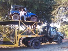 Scania 111-s + Cegonha - Conjunto - Não É Jeep Nem Camionete