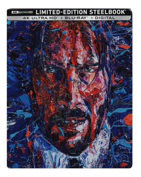 John Wick 3 Tres Steelbook Pelicula 4k Ultra Hd + Blu-ray
