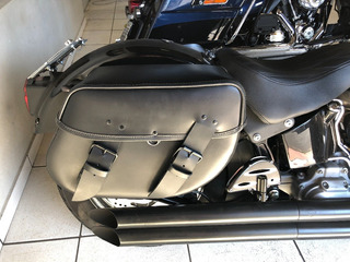Alforge Rigido Harley Davidson Softail Fat Boy Com Suporte