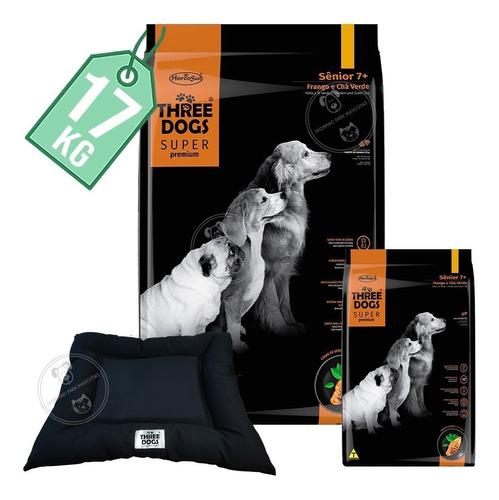 Comida Three Dogs Super Premium Senior 15 Kg + 2 Kg